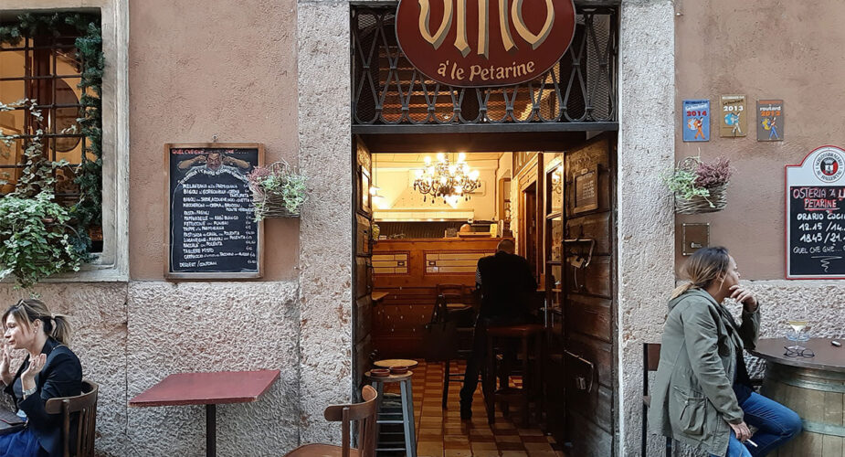 Tour of historical Osterie of Verona with personal Sommelier
